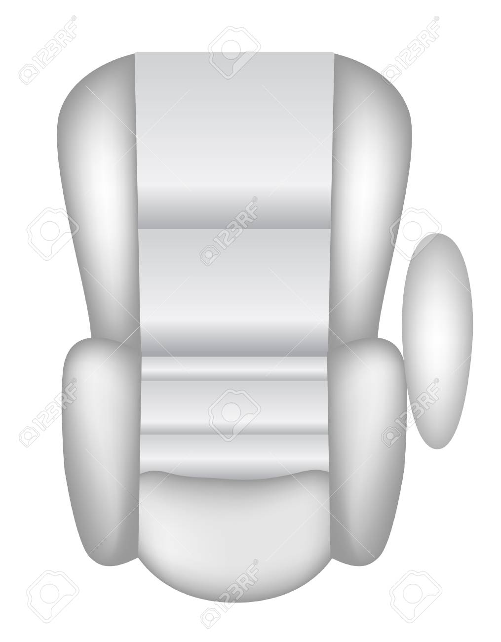vector illustration of a car seat isolated on white Stock Vector - 4244142