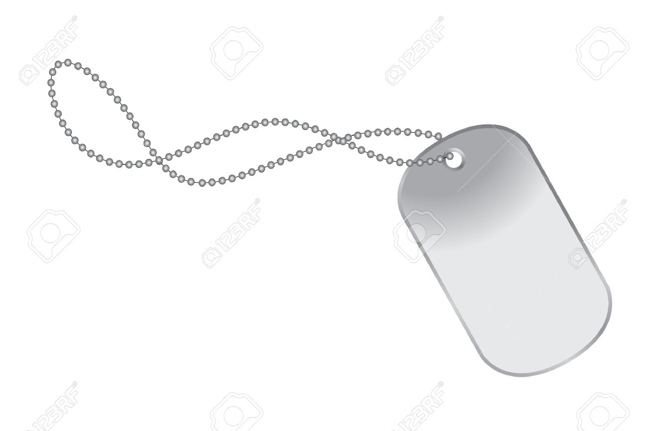 file of a dog tag on c...