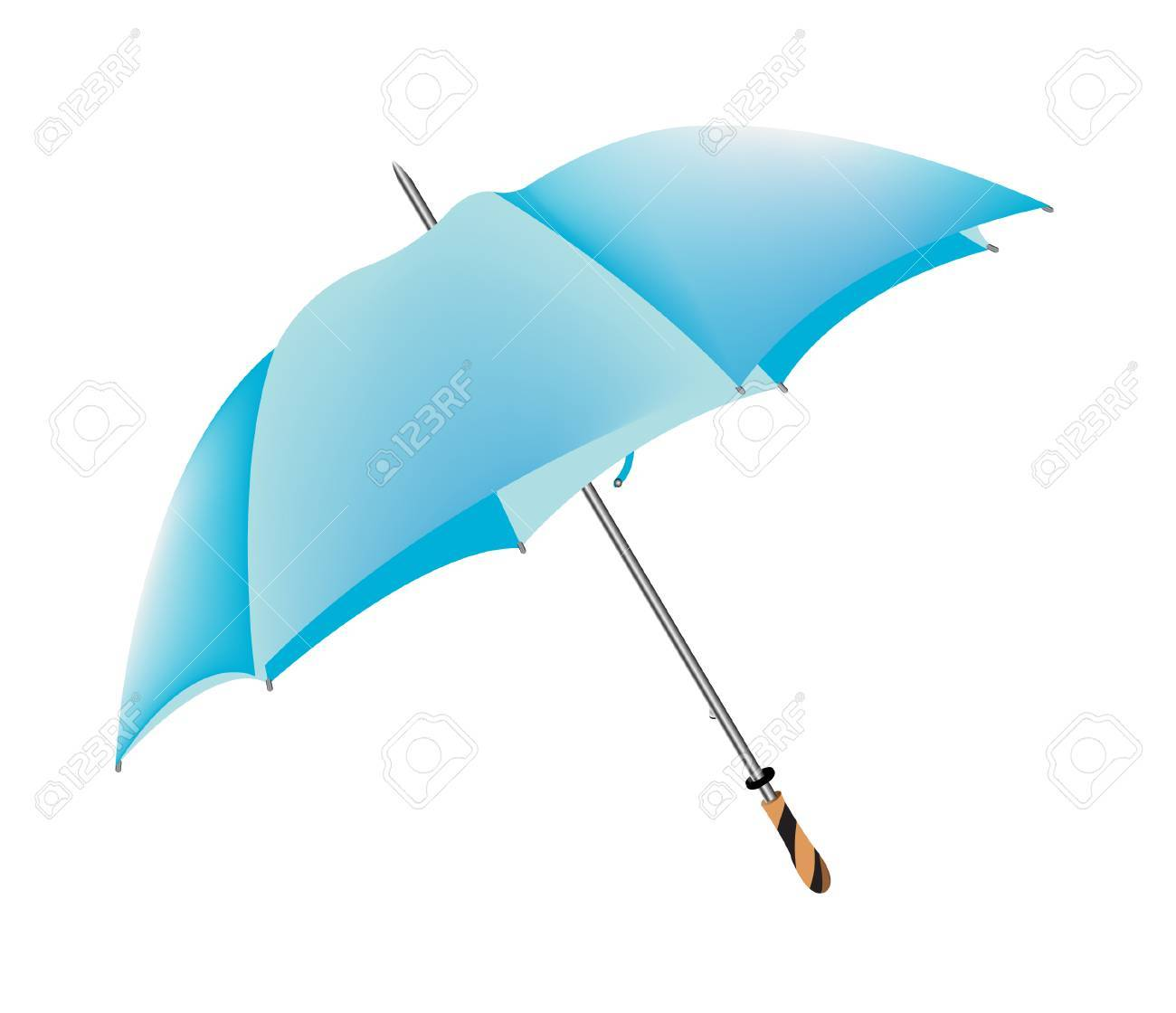 vector illustration of a blue umbrella isolated on white Stock Vector - 4244433
