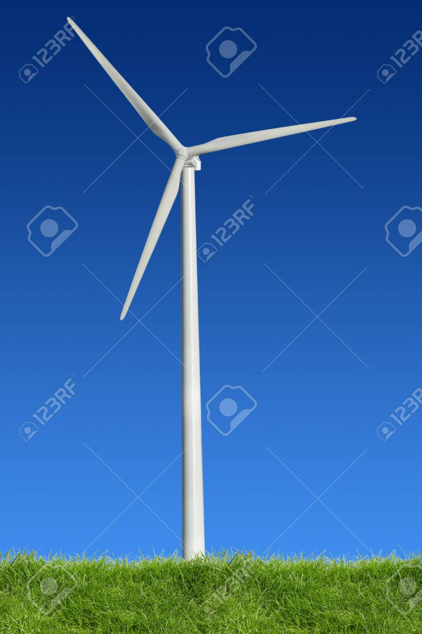 Single wind power standing in the spring time Stock Photo - 5950807