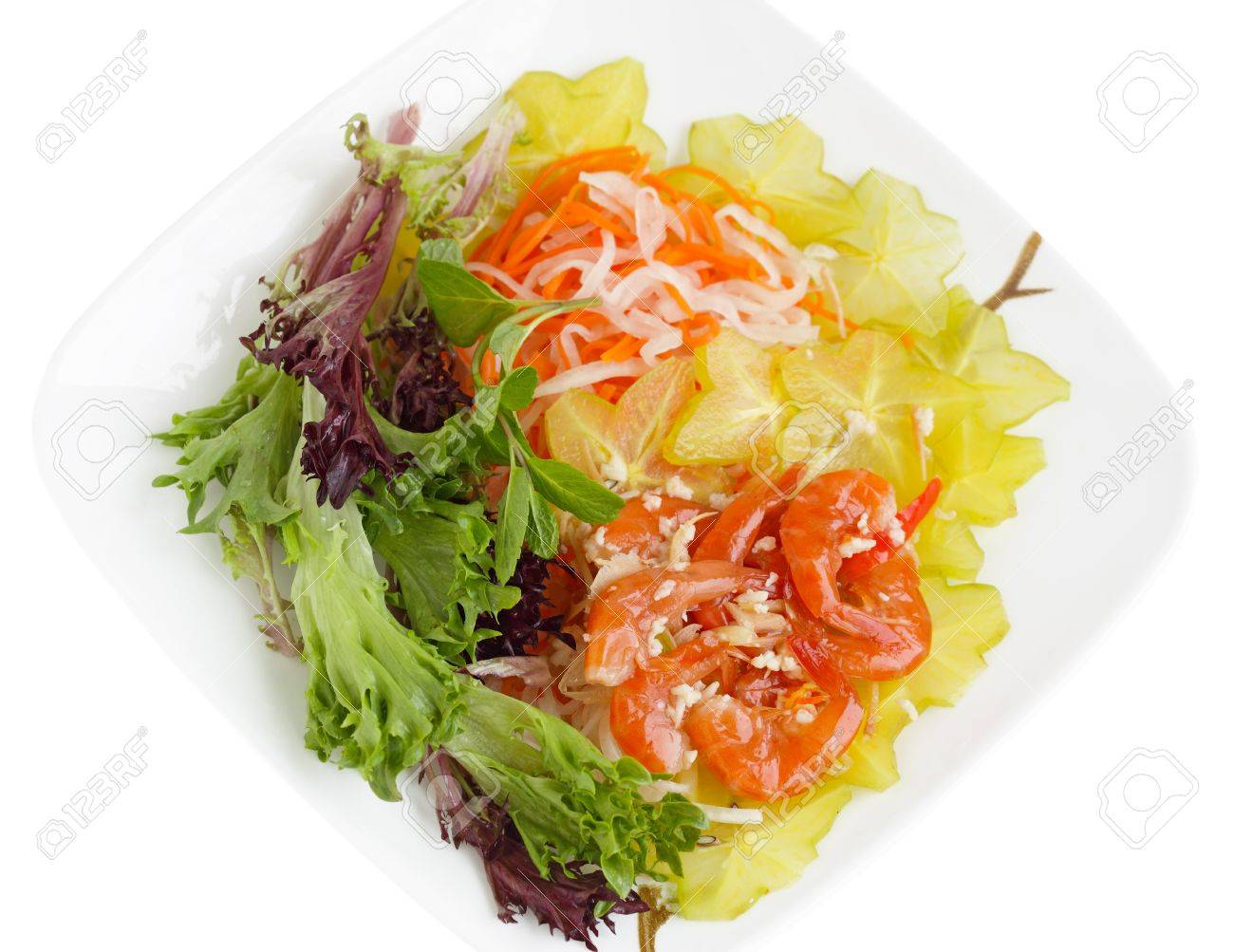 Pickled shrimp with galangal and vegetable, Vietnamese cuisine Stock Photo - 12440987