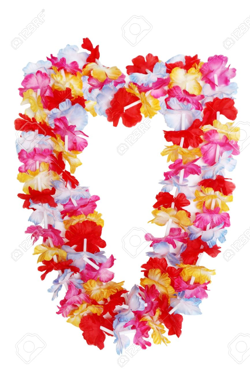 Colorful hawaiian lei flower isolated on white background stock colorful hawaiian lei flower isolated on white background stock photo 12858884 izmirmasajfo