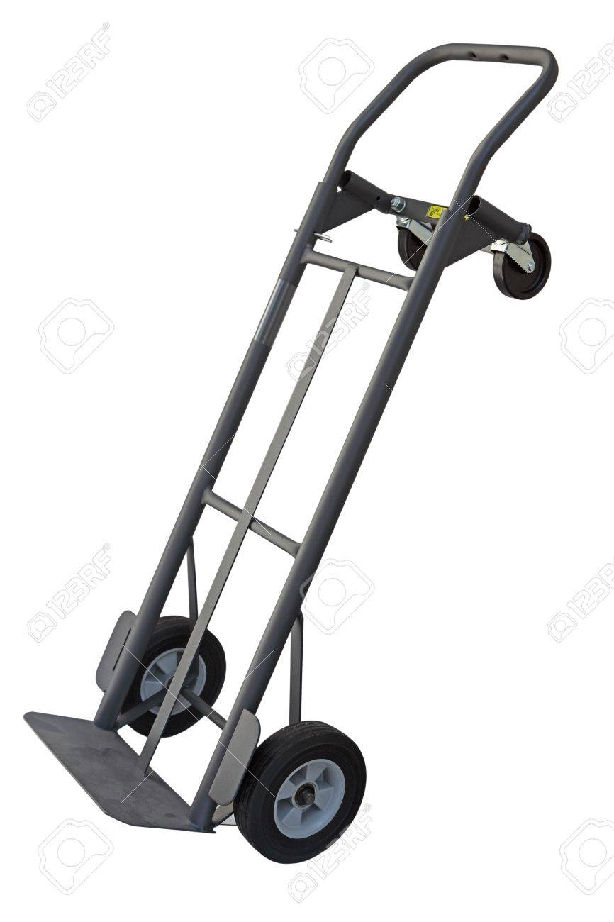 Dolly Hand Truck With Four Wheels Convertible Isolated On White Stock Photo Picture And Royalty Free Image Image 12985432