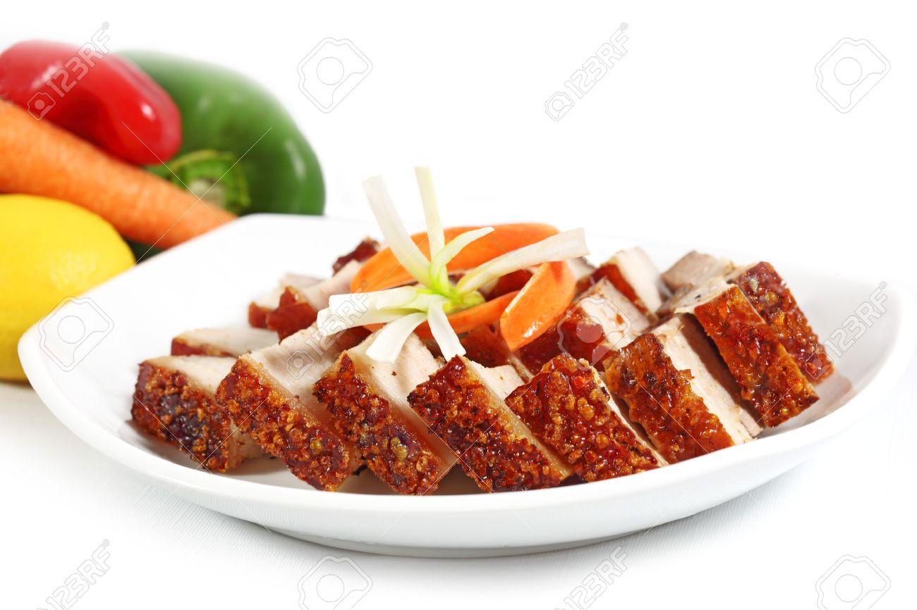 Crispy Roasted Pork Belly Vietnamese Cuisine Stock Photo 13492646