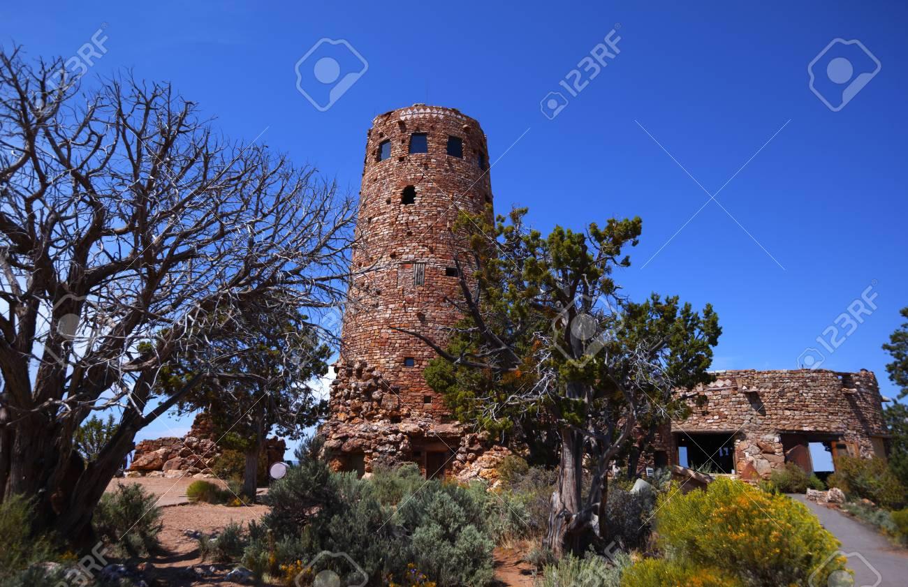 Desert View Watchtower At National Grand Canyon Park Lizenzfreie