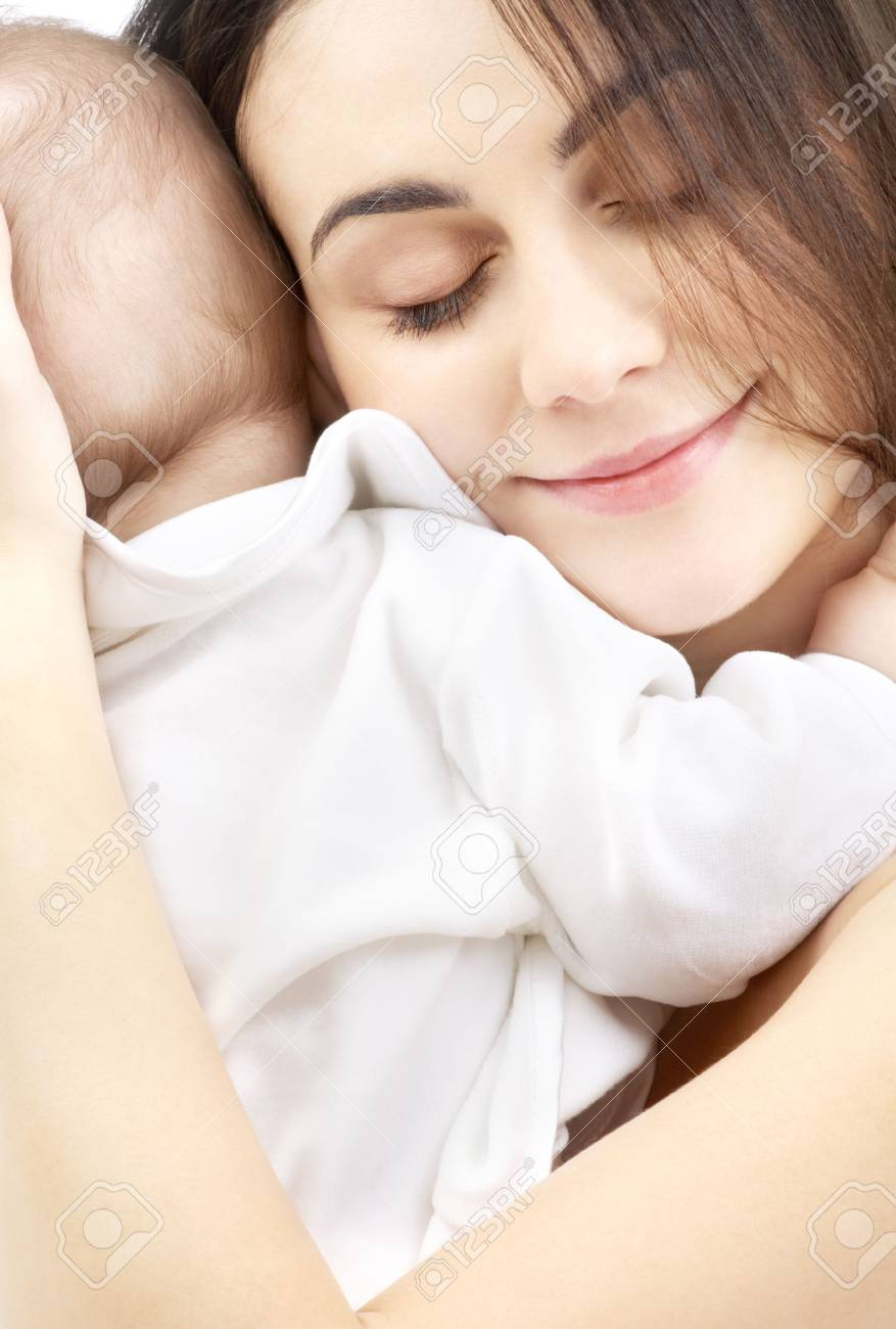 picture of happy mother with baby boy Stock Photo - 2340333