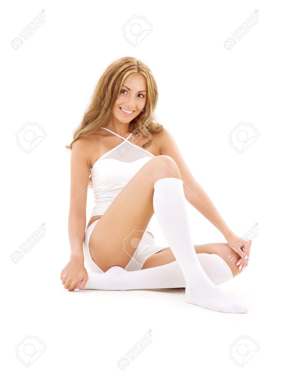 White Socks And Panties