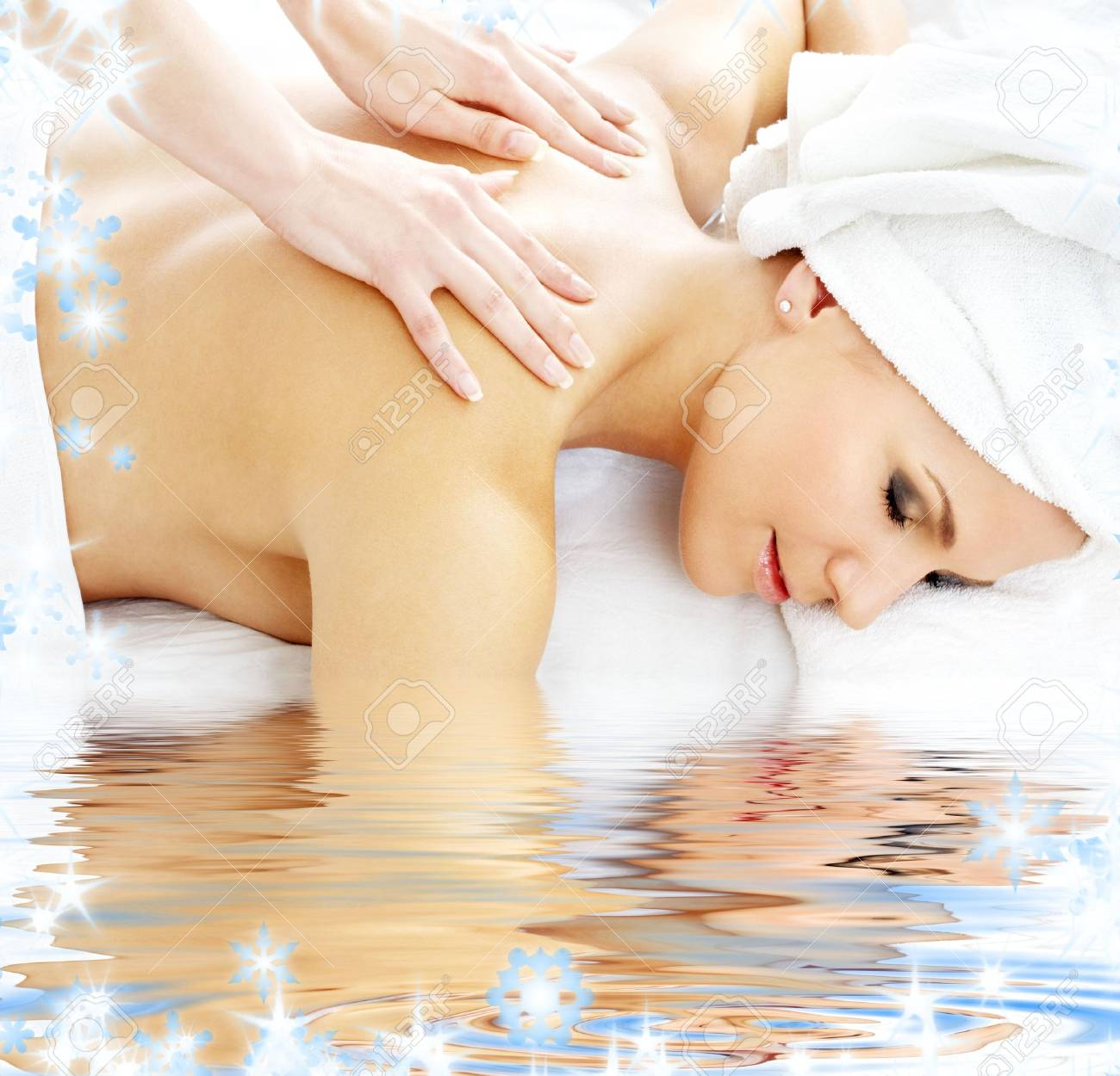 picture of lovely lady relaxing in massage salon Stock Photo - 3944999