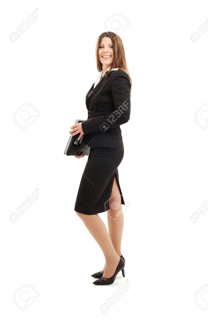 picture of successful businesswoman with laptop computer Stock Photo - 4636607