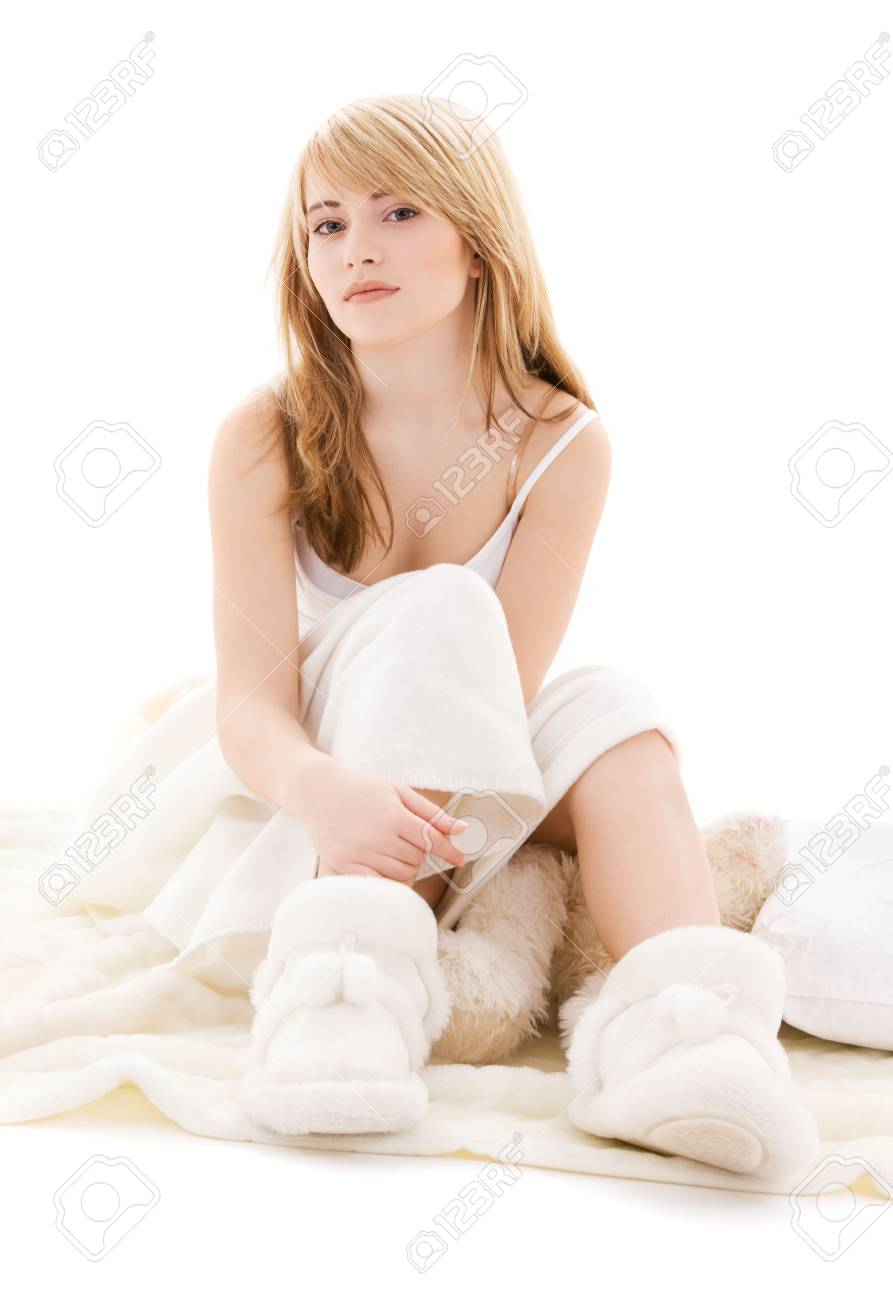 picture of beautiful teenage girl in bed Stock Photo - 4652931