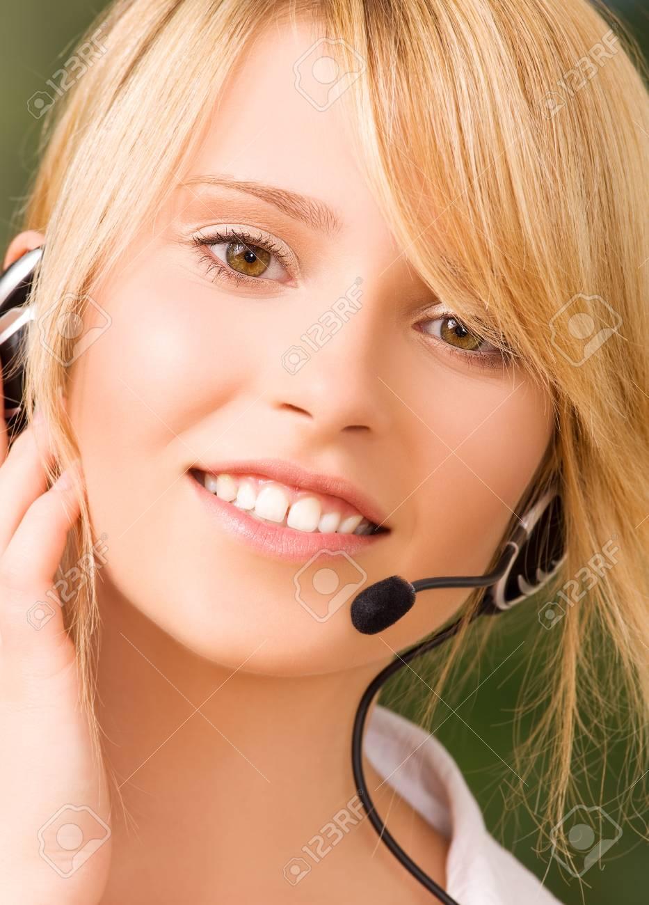 bright picture of friendly female helpline operator Stock Photo - 5672484
