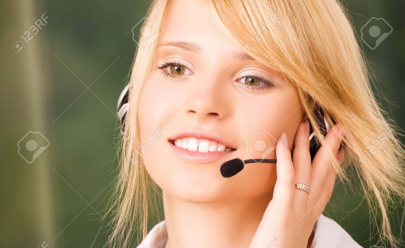 bright picture of friendly female helpline operator Stock Photo - 5947509