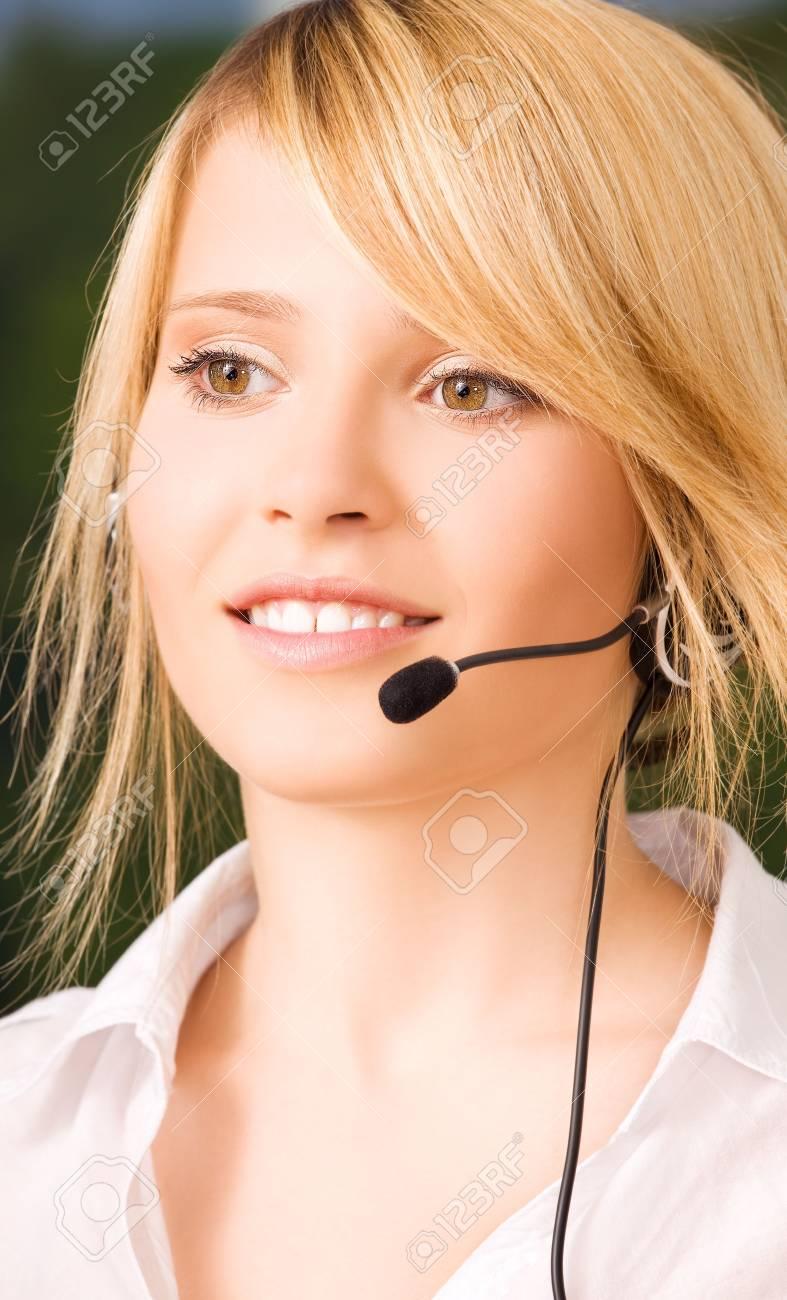 bright picture of friendly female helpline operator Stock Photo - 6155780