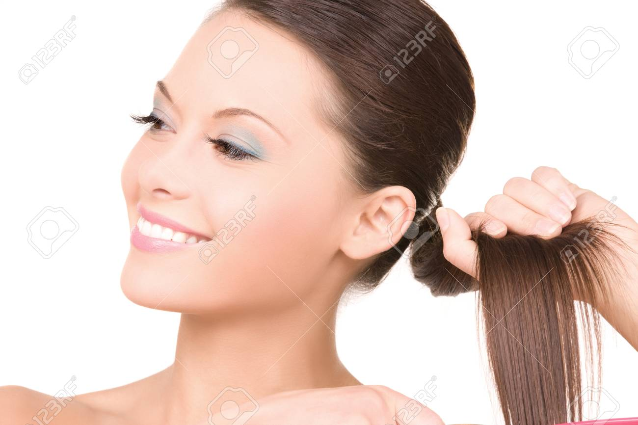 bright picture of beautiful woman with comb Stock Photo - 6861705