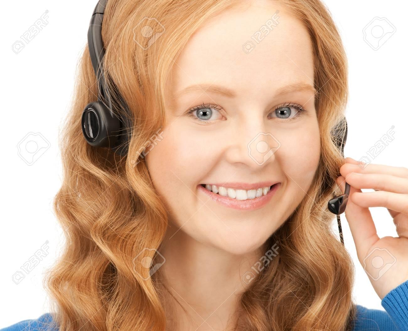bright picture of friendly female helpline operator Stock Photo - 8410767