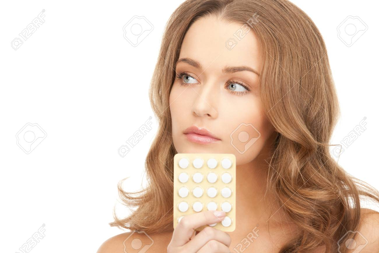picture of young beautiful woman with pills Stock Photo - 8867965