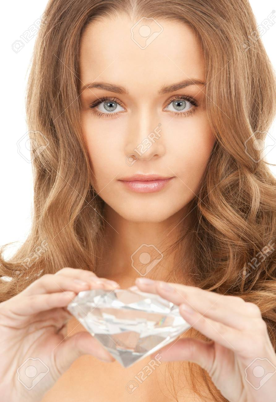 picture of lovely woman with big diamond Stock Photo - 9059131