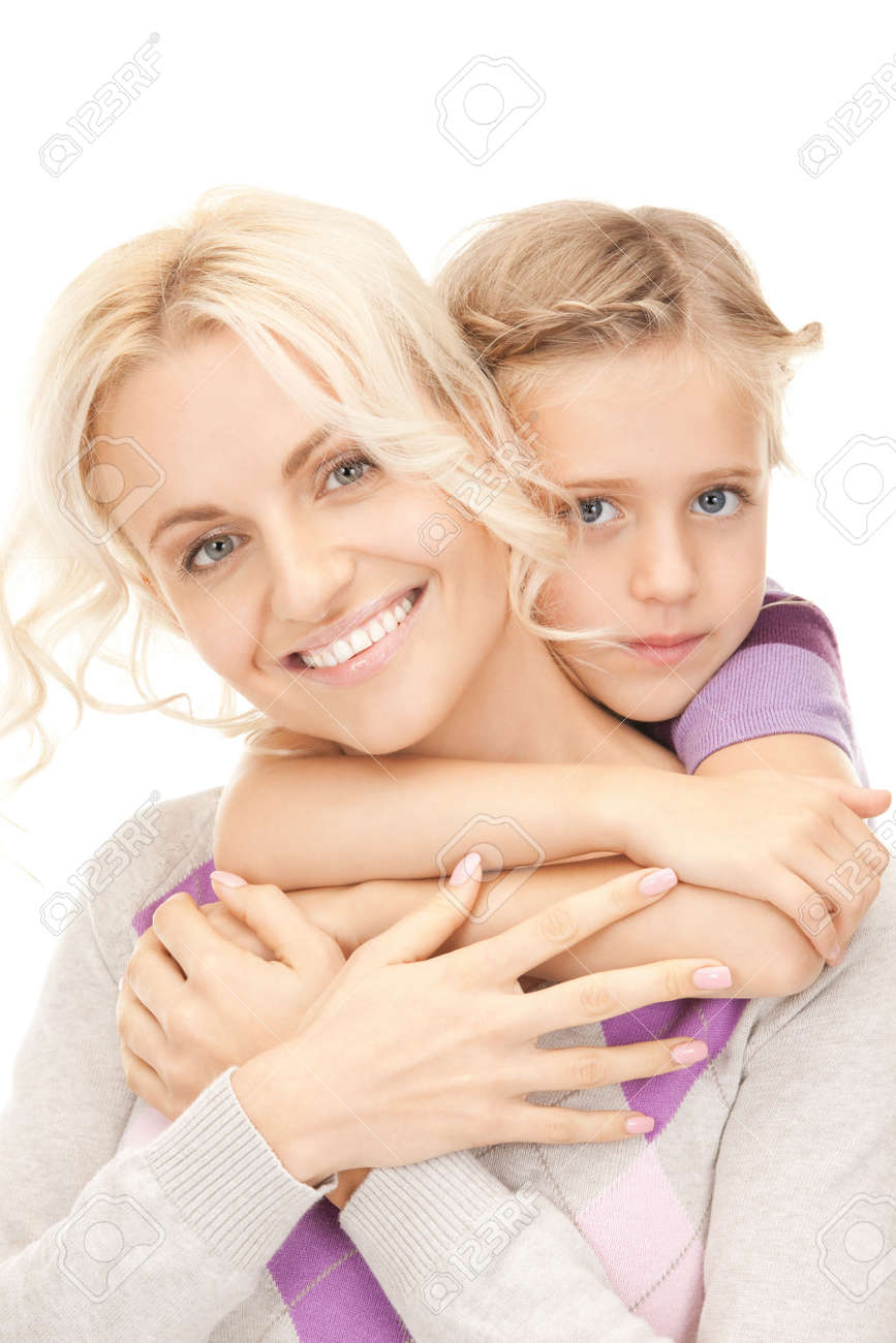 bright picture of happy mother and little girl. Stock Photo - 9318963