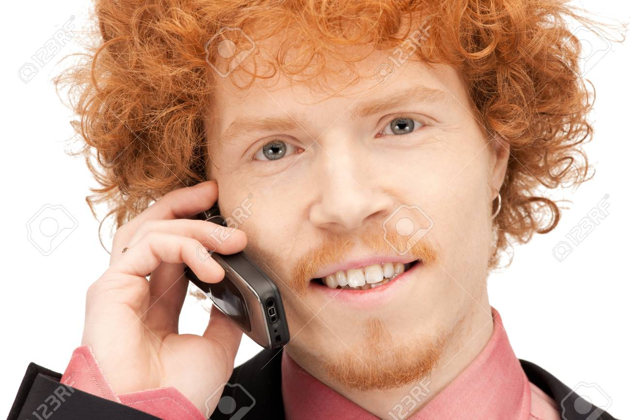 picture of handsome man with cell phone Stock Photo - 9373239