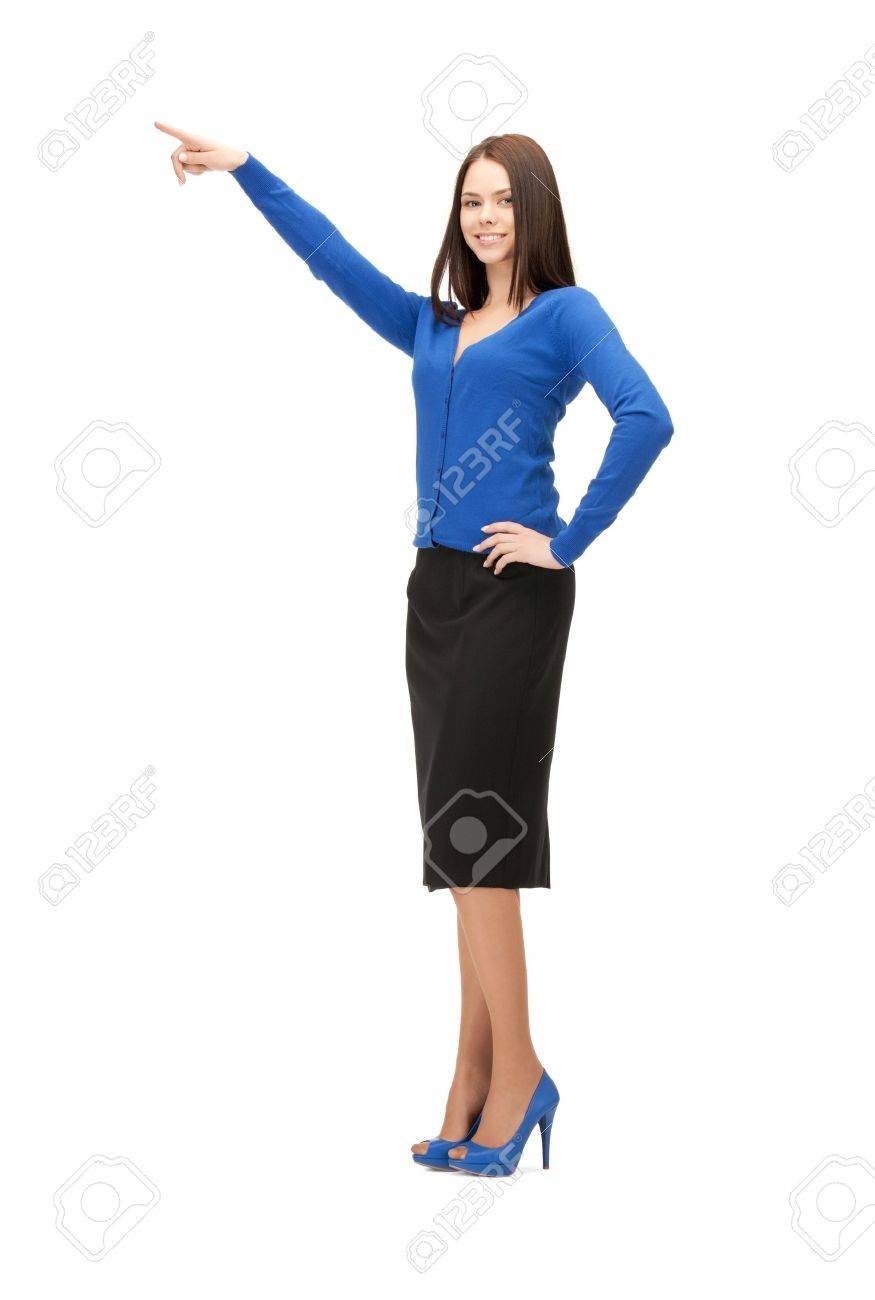 picture of attractive businesswoman pointing her finger Stock Photo - 9905520