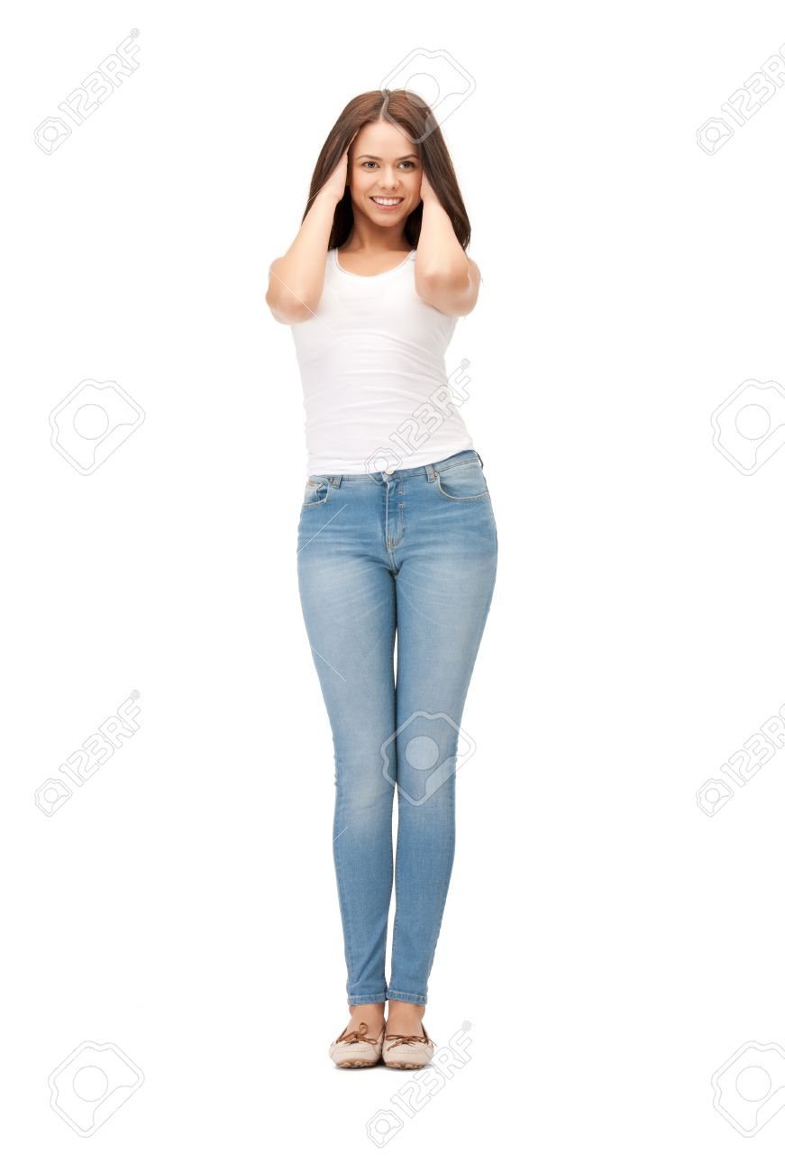 bright picture of happy and carefree teenage girl Stock Photo - 9905560