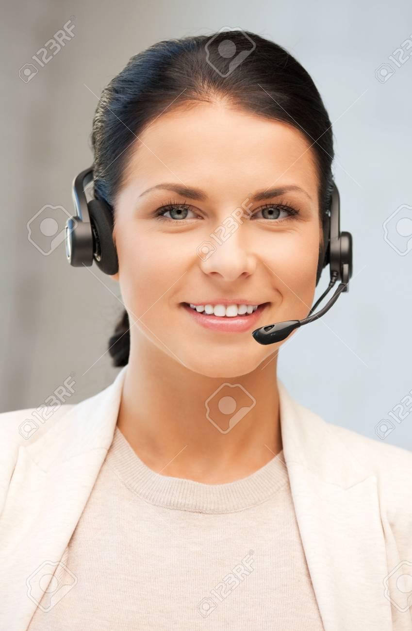 bright picture of friendly female helpline operator Stock Photo - 10061169