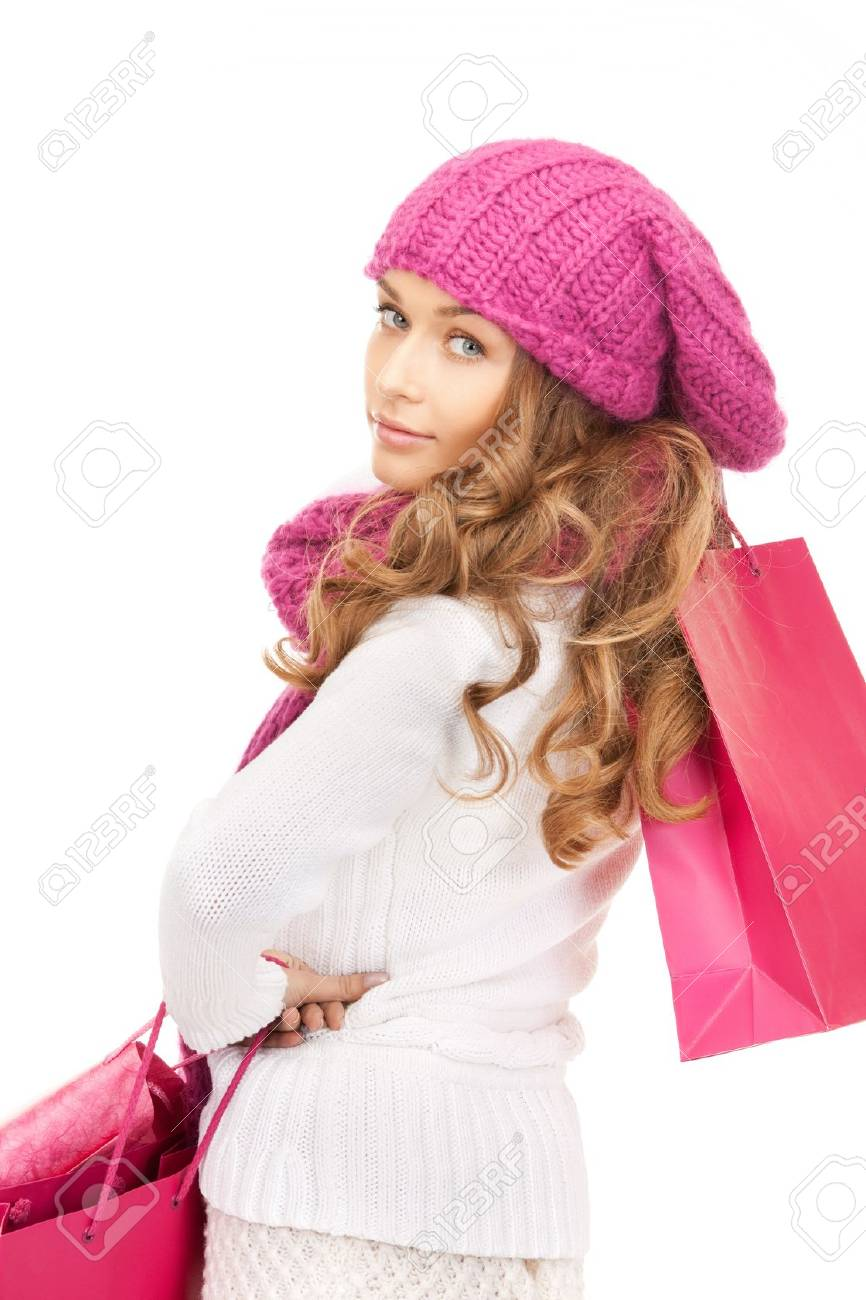 picture of lovely woman with shopping bags Stock Photo - 10465443