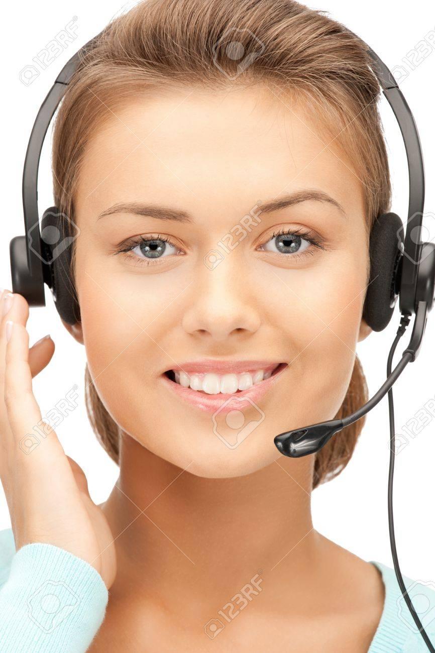 bright picture of friendly female helpline operator Stock Photo - 10736073
