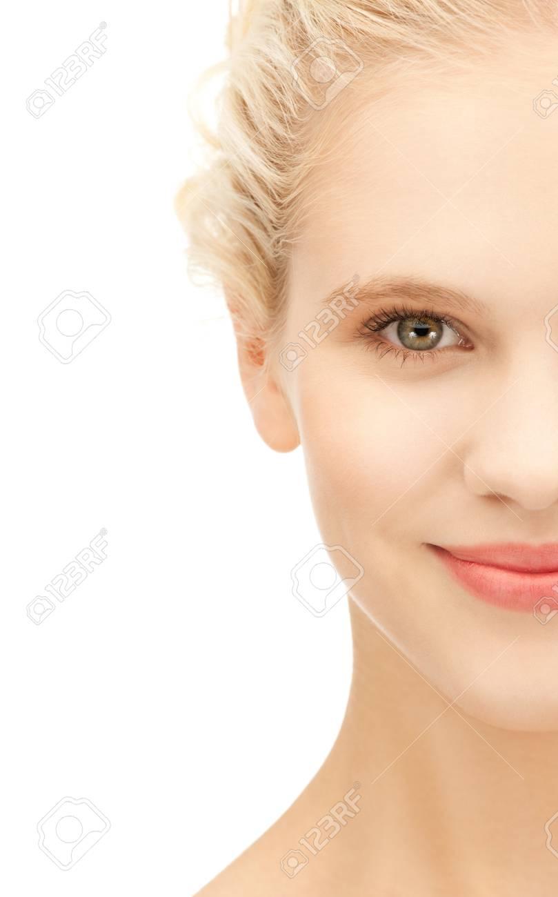 bright closeup portrait picture of beautiful woman Stock Photo - 11094010