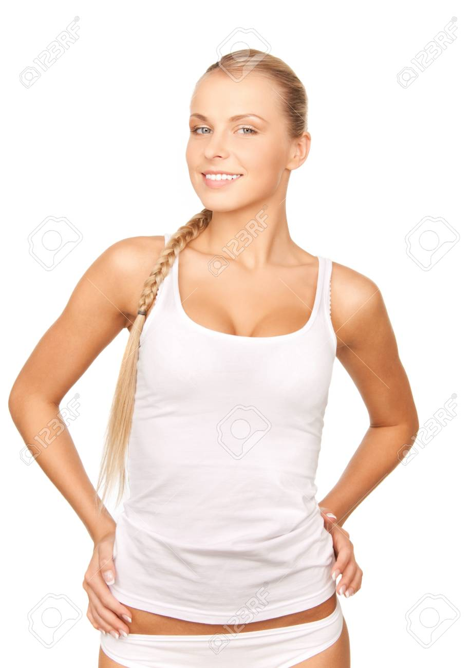 picture of beautiful woman in cotton undrewear Stock Photo - 12971205