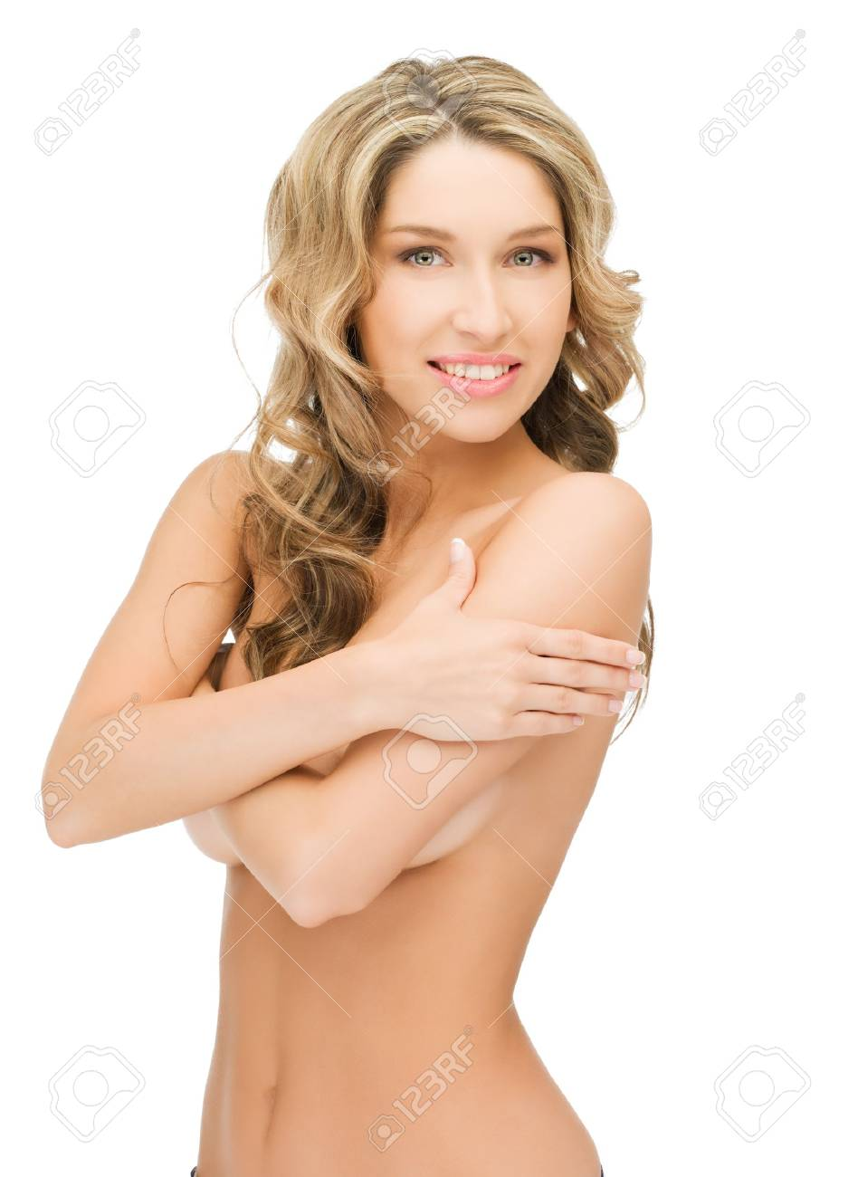 bright closeup picture of beautiful topless woman Stock Photo - 12971352