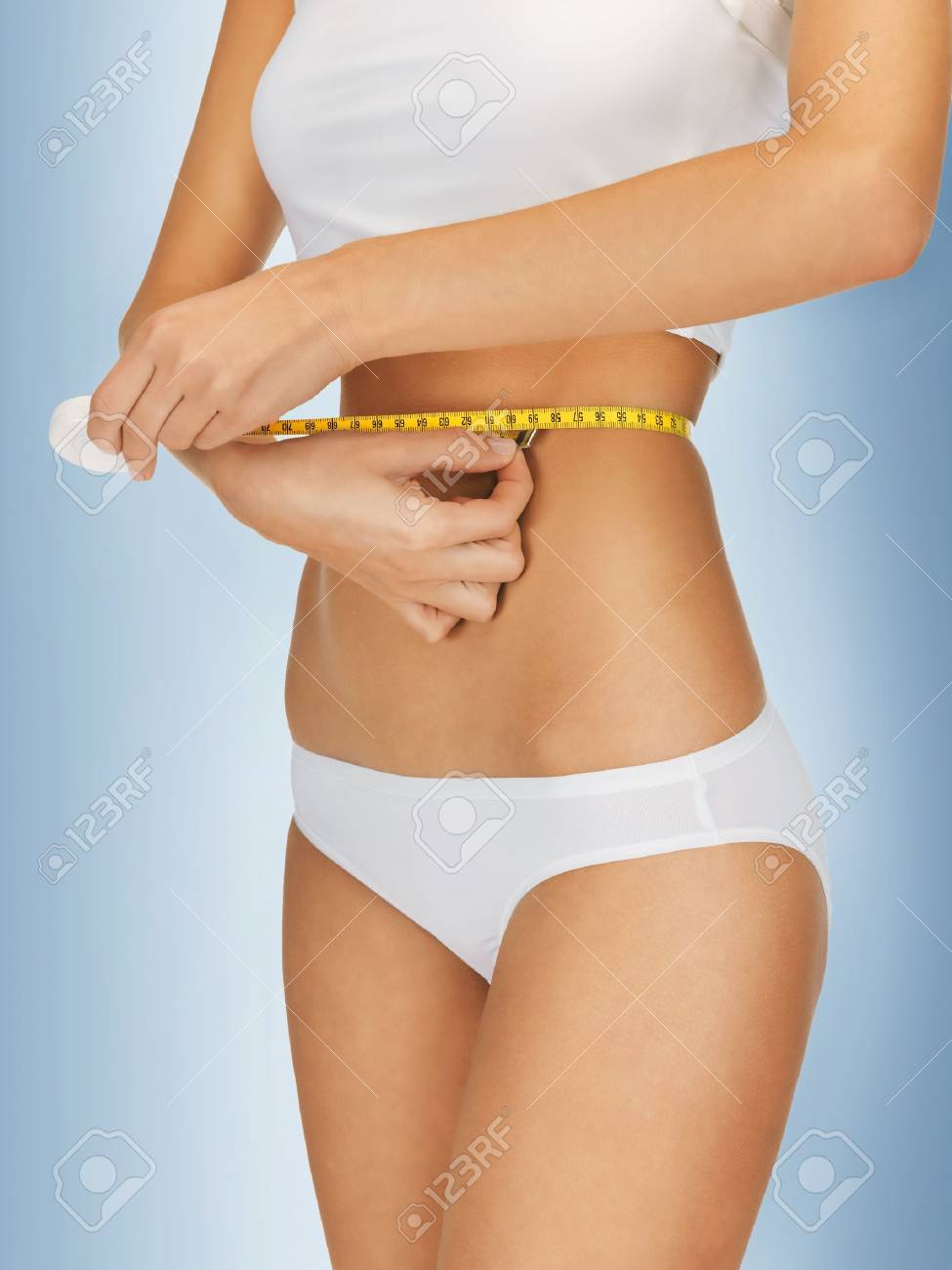closeup picture of woman with measure tape Stock Photo - 16442124