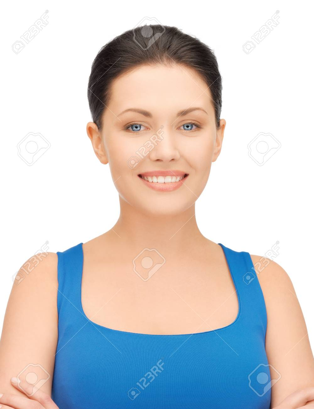 bright picture of beautiful woman in casual clothes Stock Photo - 16960663