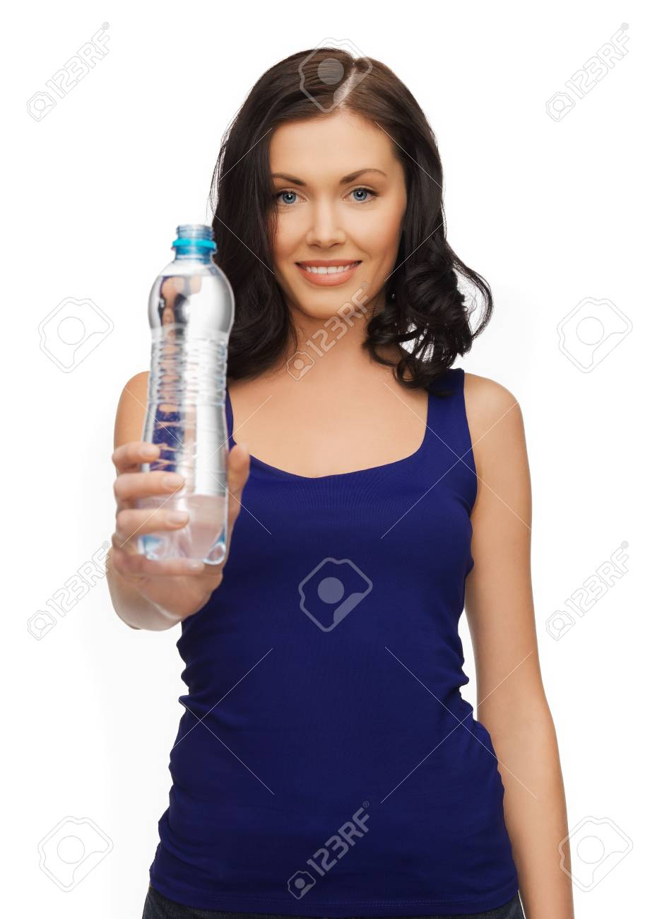 picture of beautiful woman with bottle of water Stock Photo - 17540161