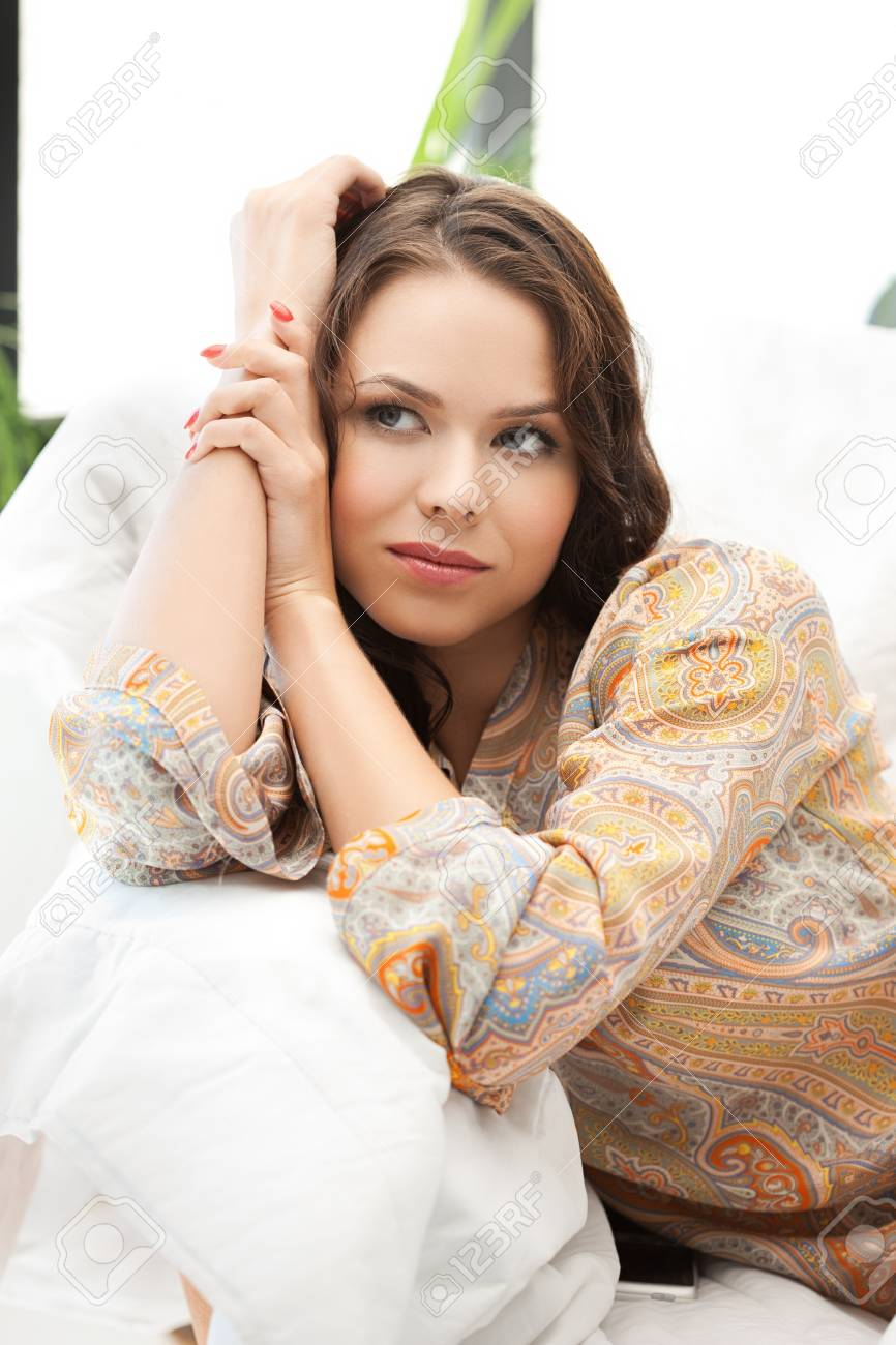 picture of calm thinking or dreaming woman Stock Photo - 18299840
