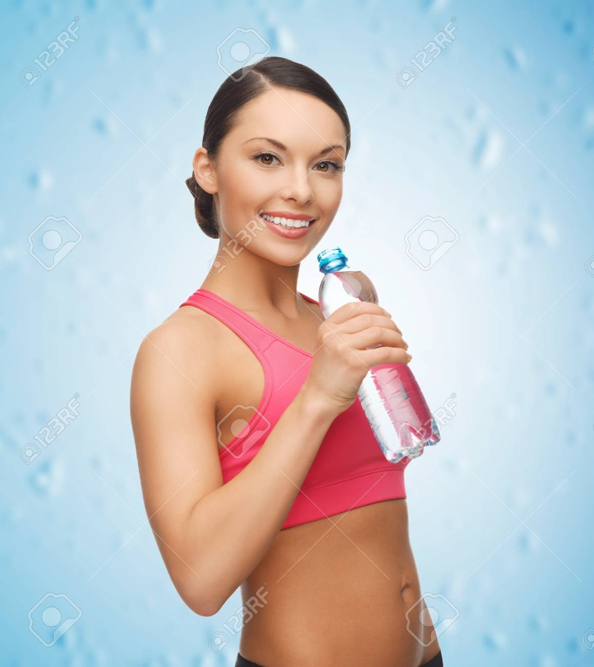 picture of sporty woman drinking water from bottle Stock Photo - 18822401