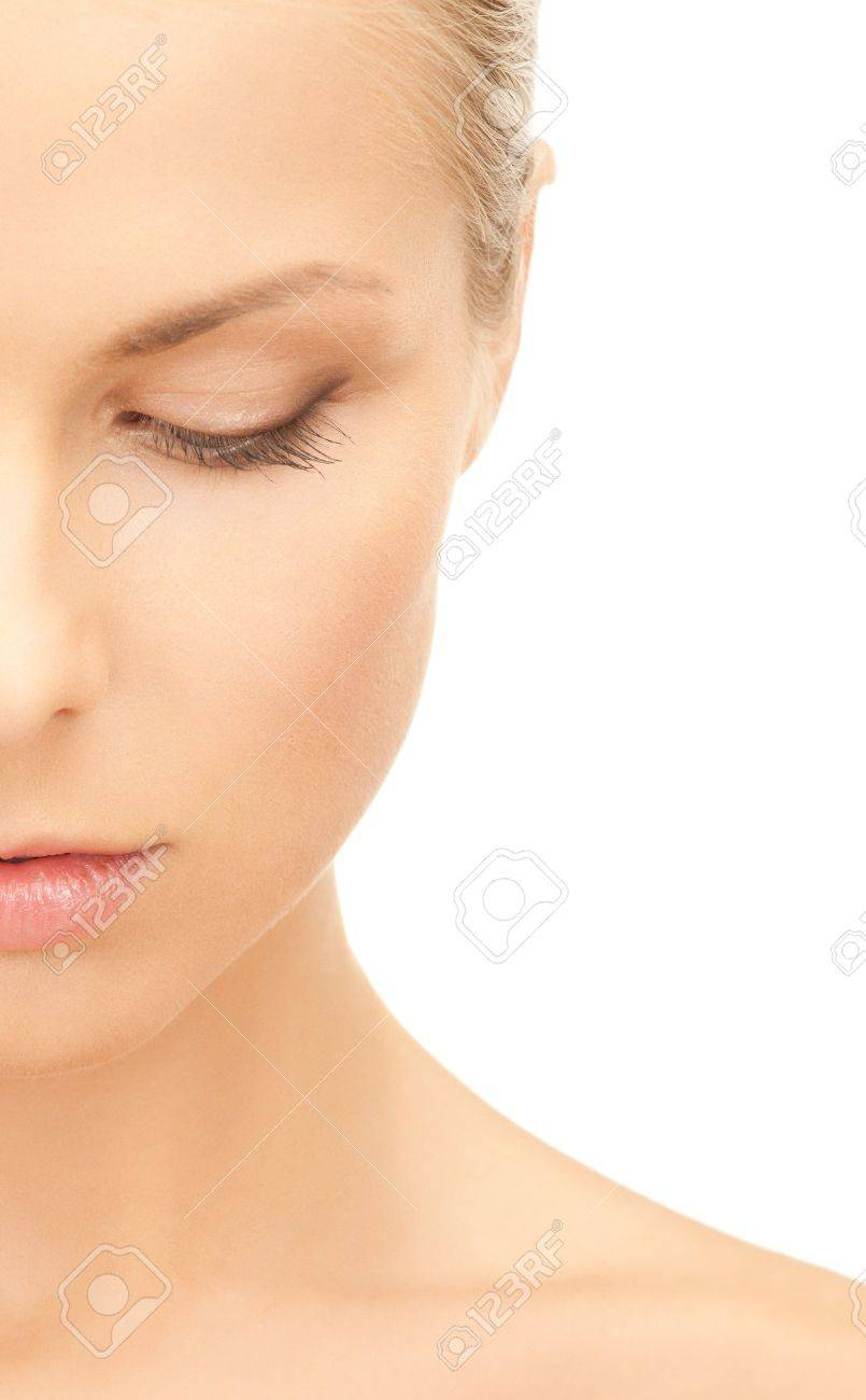 portrait of half face of beautiful woman Stock Photo - 19611645