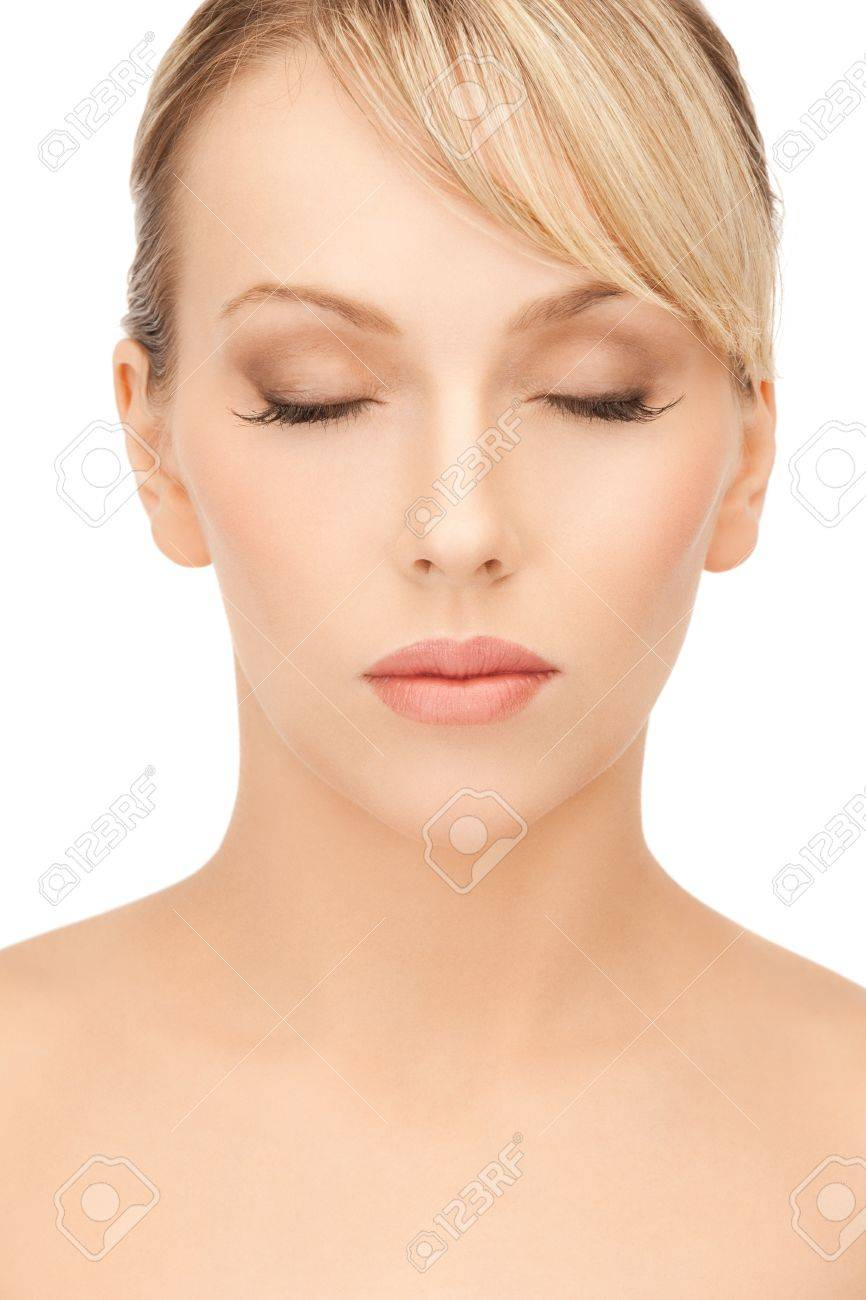 face of beautiful woman with blonde hair Stock Photo - 19730323