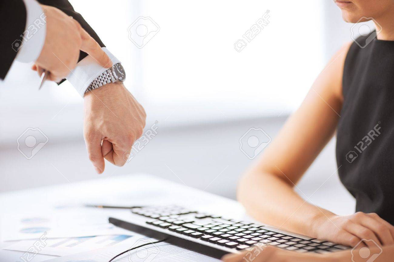 picture of boss and worker at work having conflict Stock Photo - 20112246