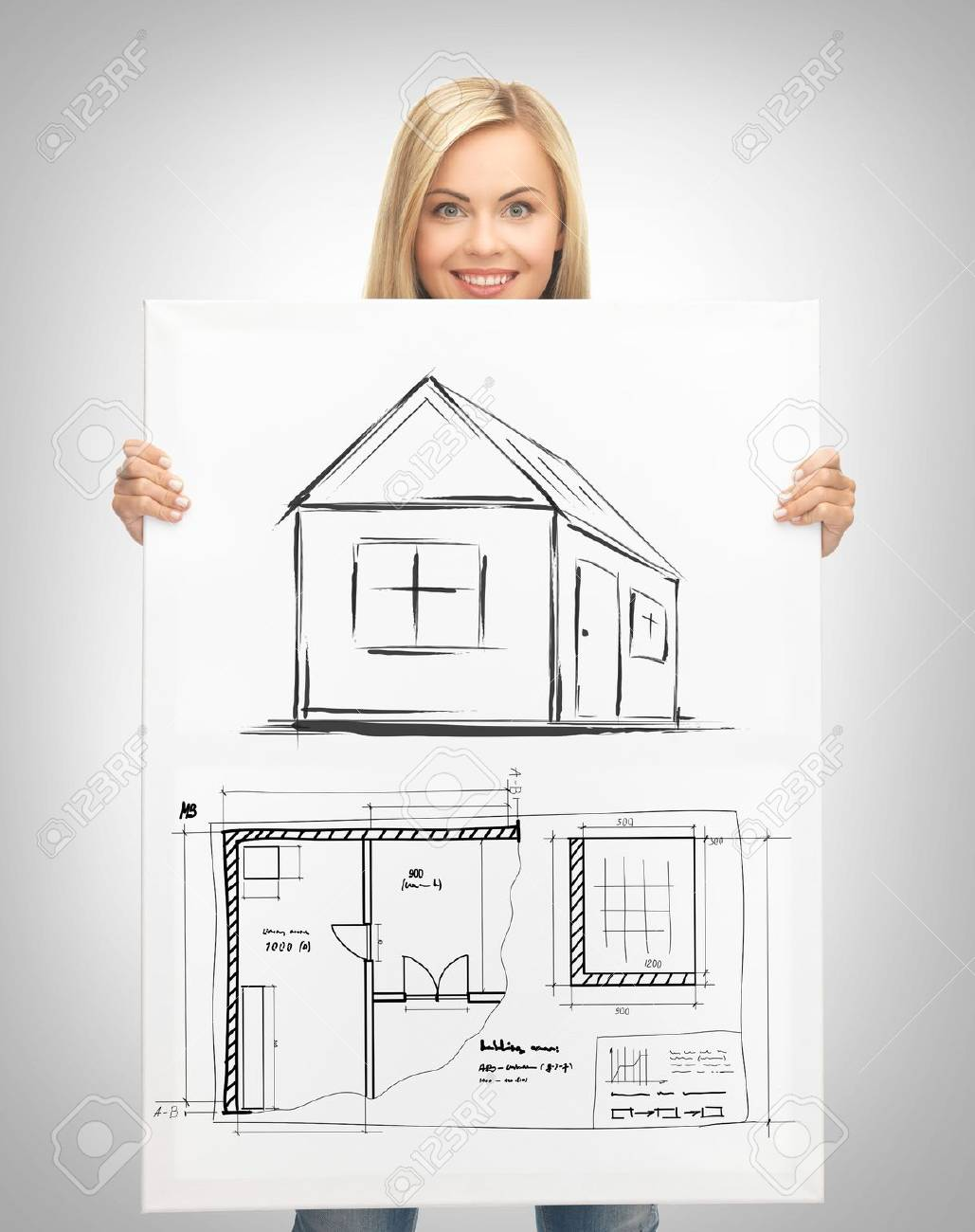Real estate property business and accomodation concept woman real estate property business and accomodation concept woman holding picture with house and malvernweather Image collections