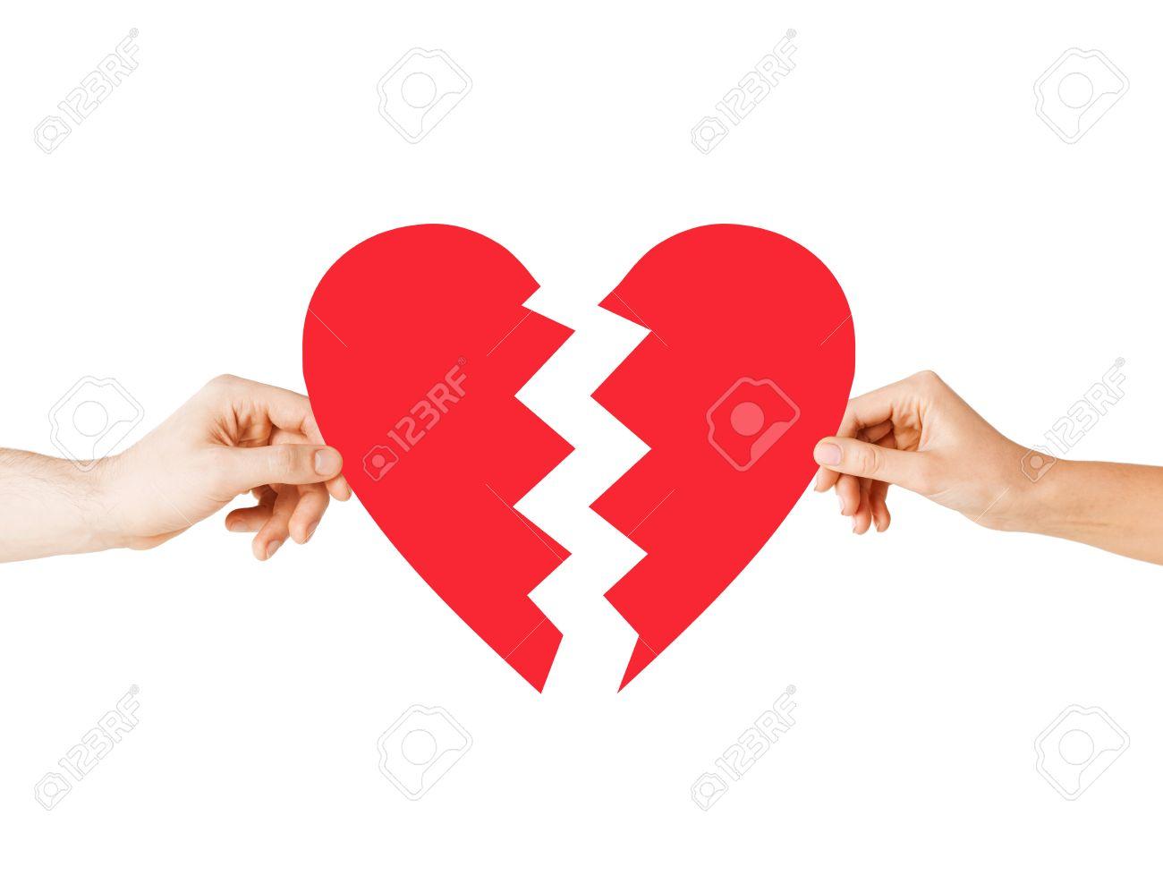 Liebe Und Beziehung Probleme Konzept - Männliche Und Weibliche Hände ...