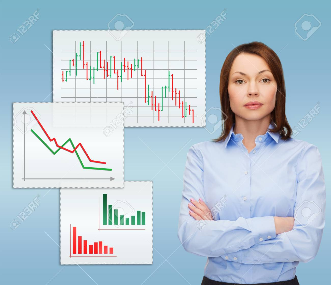 business and education concept - friendly young businesswoman with crossed arms Stock Photo - 26175582