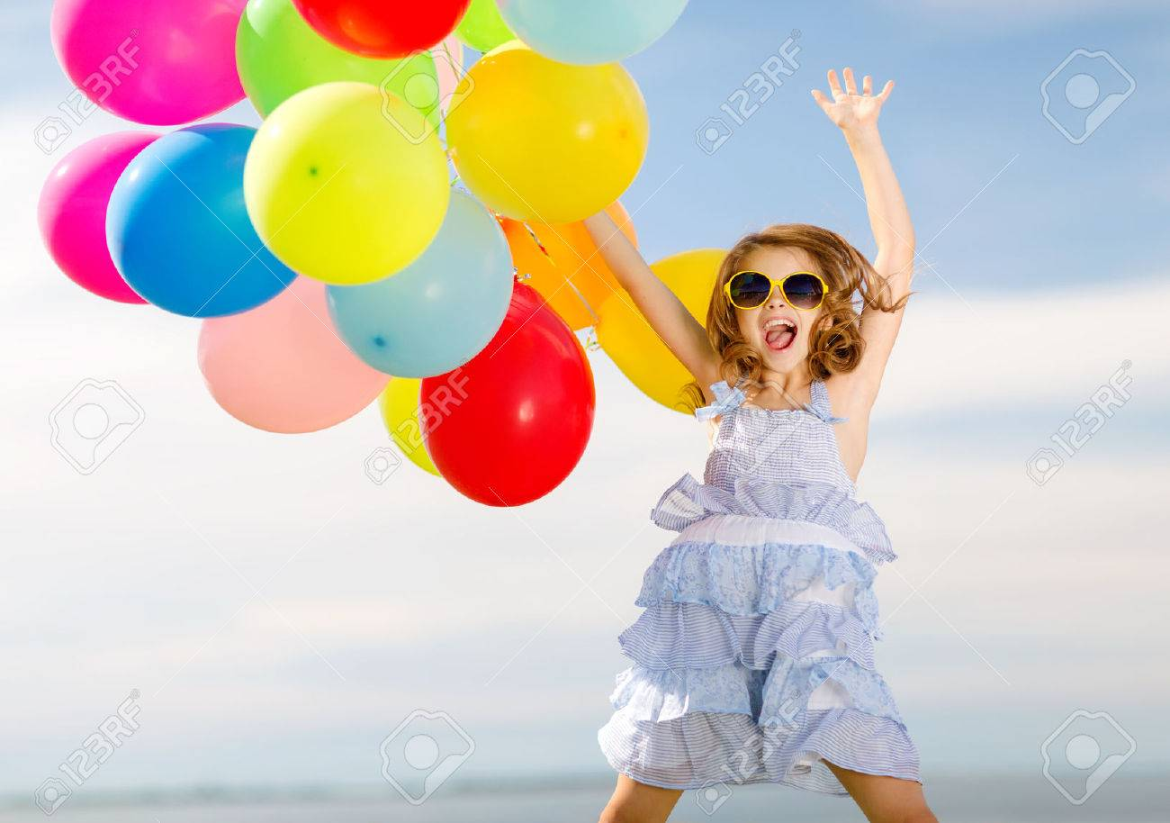 Summer Holidays, Celebration, Children And People Concept - Happy ...