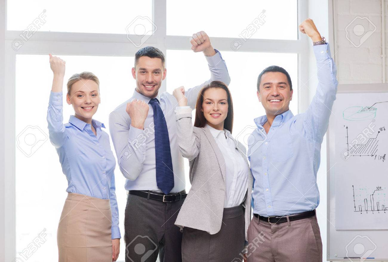 Business Office Success And Victory Concept Happy Business Stock Photo Picture And Royalty Free Image Image 27903486