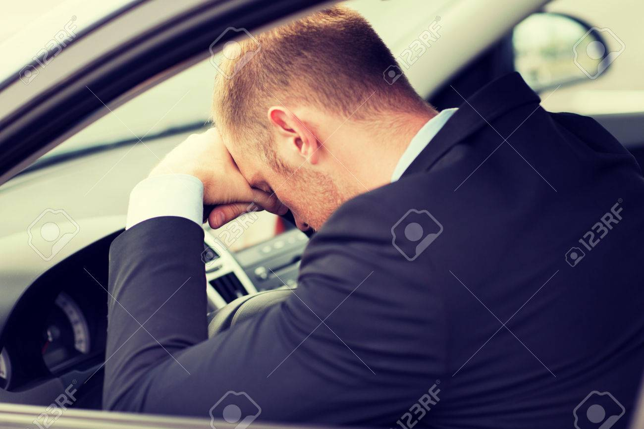 Transportation And Vehicle Concept Tired Businessman Or Taxi Stock Photo Picture And Royalty Free Image Image 29640139
