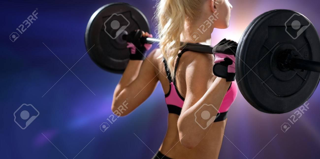 Frau Fitness-Training und Diät