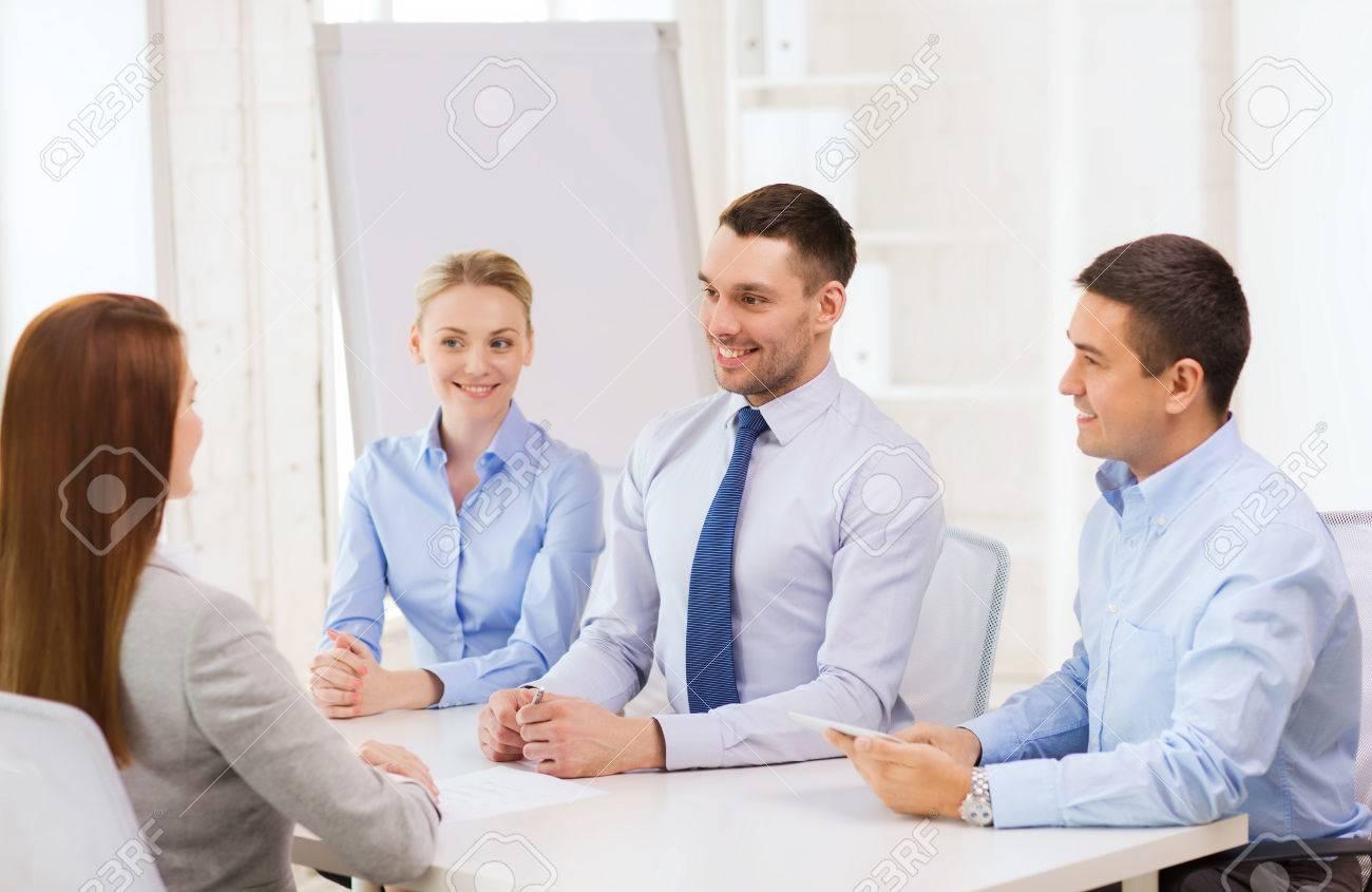 Affaires entrevue l emploi et le concept de bureau équipe d