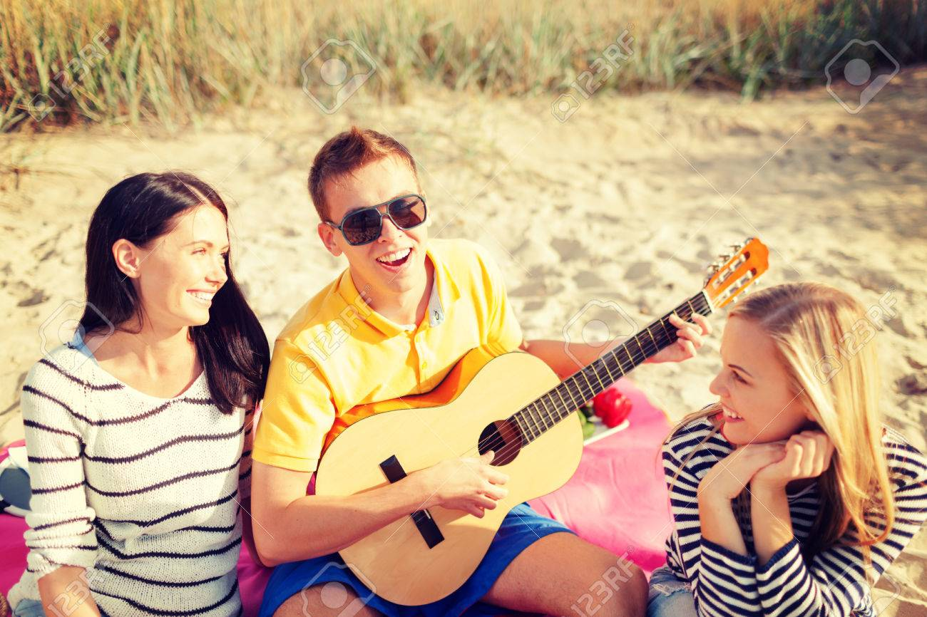 Summer Holidays Vacation Music Happy People Concept