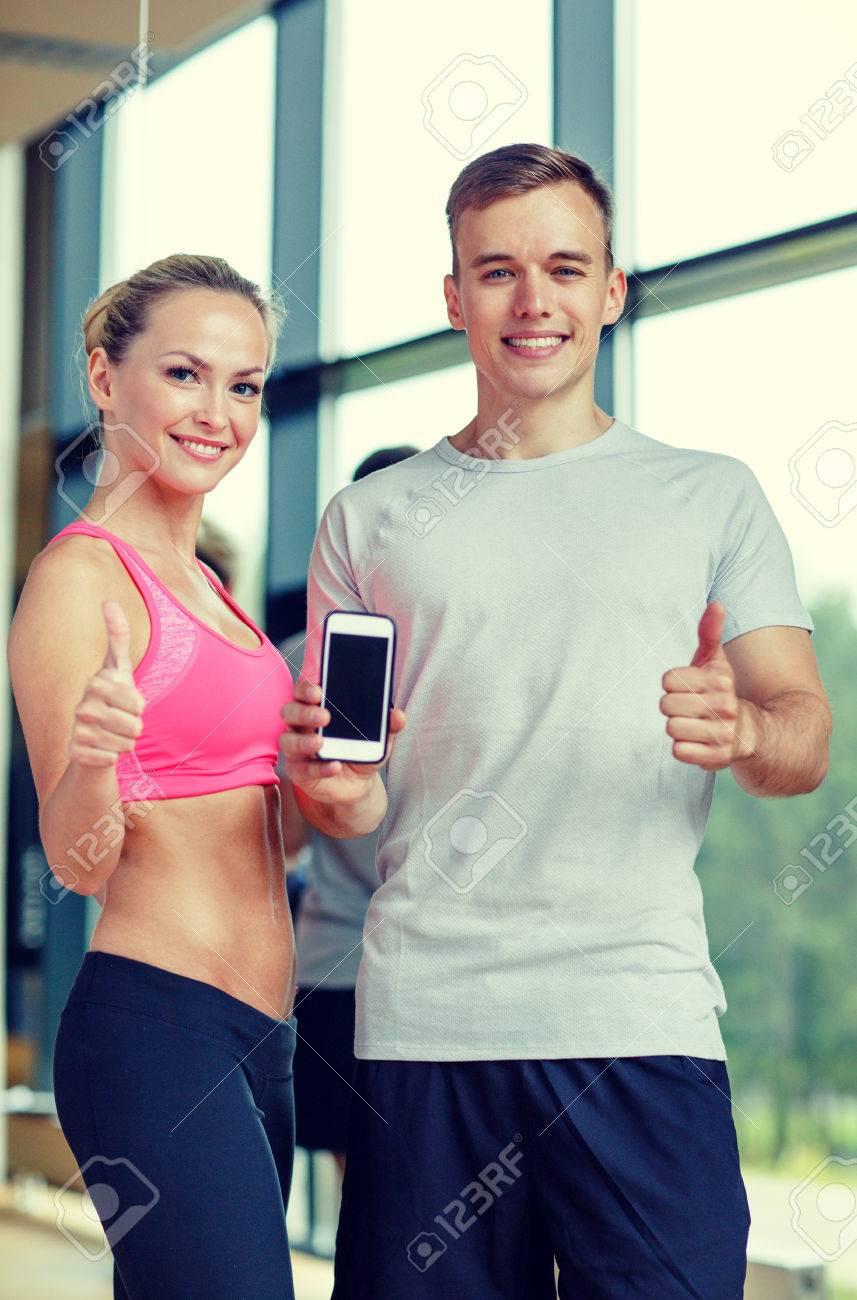 Fitness Sport Werbung Technik Und Diat Konzept Lachelnde Junge