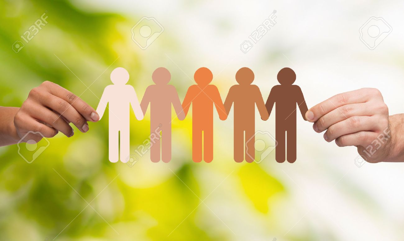 community unity people and support concept couple hands